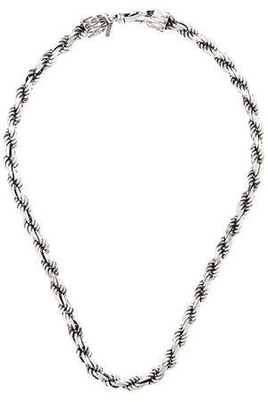 EMANUELE BICOCCHI Collar de cadena con diseño de cuerda
