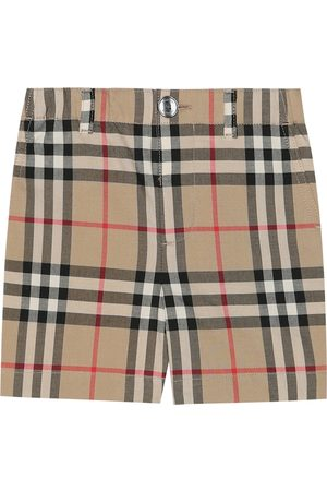 Burberry Shorts Baby Check de algodón