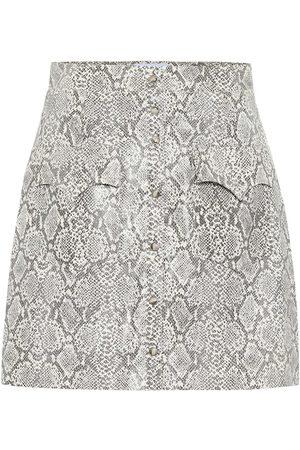 Nanushka Exclusivo en Mytheresa - falda Erin de piel sintética efecto serpiente