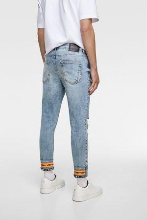 Zara Jeans skinny cintas