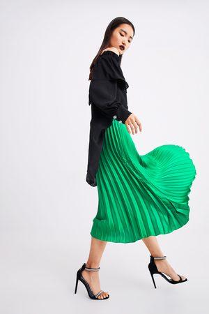 Zara Falda midi plisada