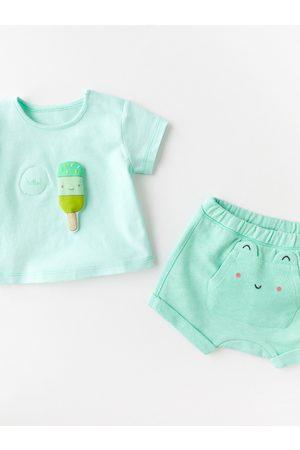 Zara Bebé Pantalones y Leggings - Bermuda felpa bolsillo apliques