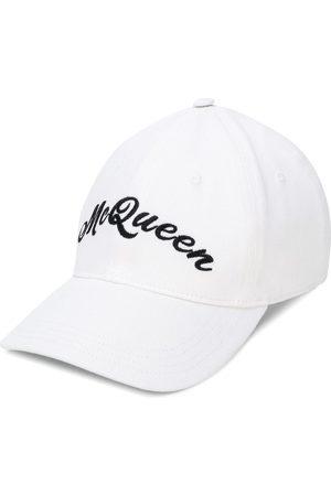 Alexander McQueen Gorra de béisbol con logo bordado