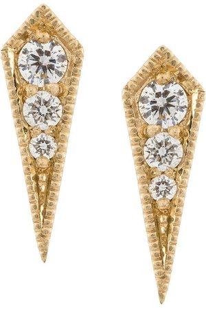 Lizzie Mandler Pendientes Kite en oro amarillo de 18kt con diamantes