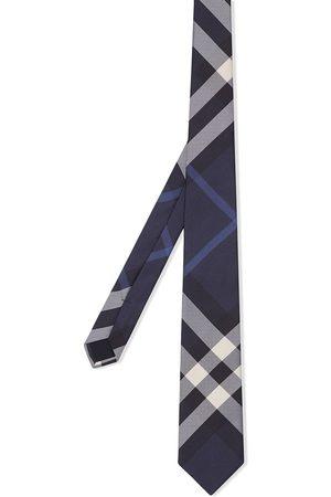 Burberry Corbata de seda clásica con motivo de cuadros