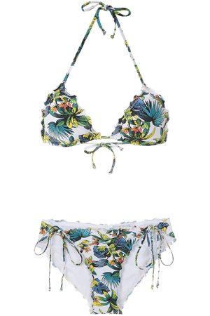 AMIR SLAMA Bikini con motivo tropical