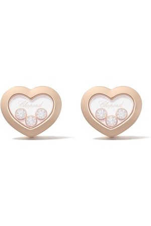 Chopard Pendientes Happy Diamonds Icons en oro rosa 18kt