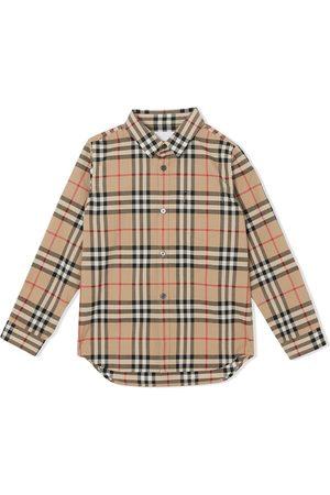 Burberry Camisa de cuadros vintage