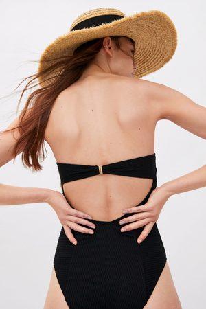 Zara Mujer Bañadores - Bañador bandeau textura