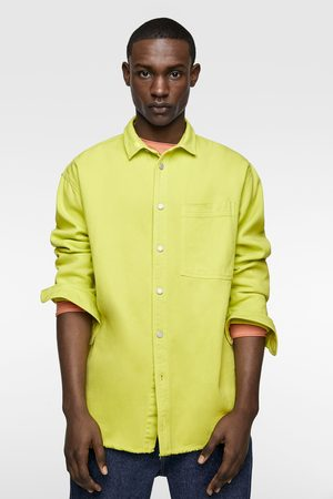 Zara Camisa denim flúor