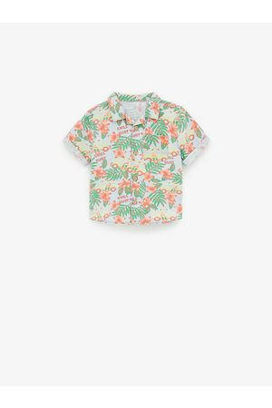 Zara Camisa denim estampado