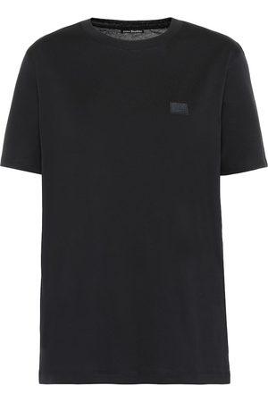 Acne Camiseta Ellison Face de algodón