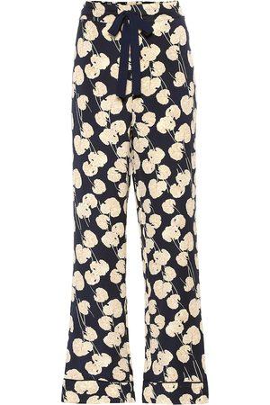 Diane von Furstenberg Pantalones Veronica de cady y seda