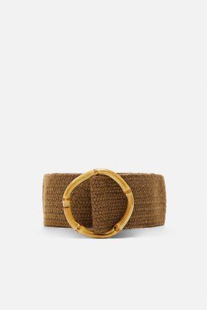 Zara Cinturón hebilla bambú