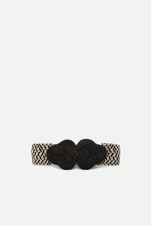 Zara Cinturón elástico bicolor