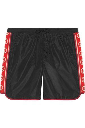 Gucci Hombre Shorts de baño - Bañador con rayas del logo