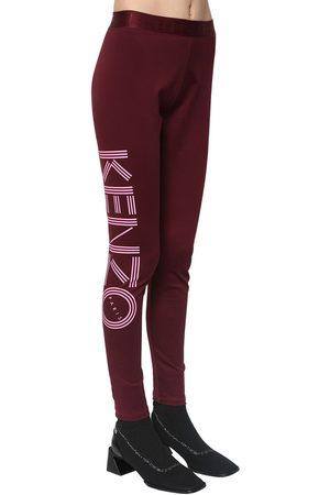 Kenzo   Mujer Leggings De Algodón Stretch Con Estampado Xs