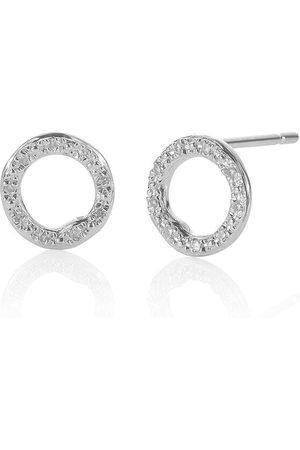 Monica Vinader Pendientes circulares Riva con diamantes