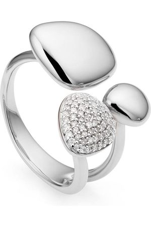 Monica Vinader Anillo Nura Pebble Cluster con diamantes