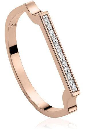 Monica Vinader Anillo RP Signature con diamantes
