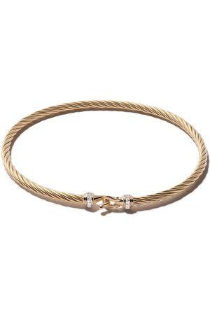 David Yurman Mujer Pulseras - Pulsera Cable Buckle con diamantes en pavé en oro 18kt