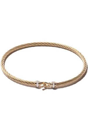 David Yurman Pulsera Cable Buckle con diamantes en pavé en oro 18kt