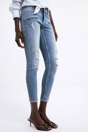 Zara Mujer Pitillos - Jeans z1975 skinny rotos