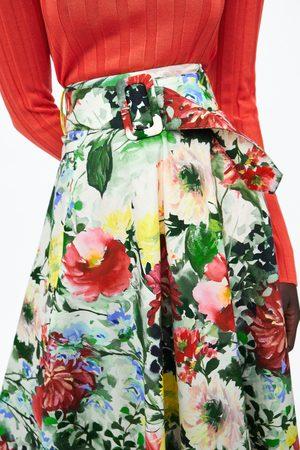Zara Mujer Estampadas - Falda estampado floral