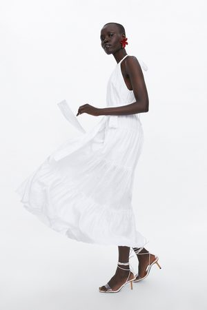Zara Vestido largo lino