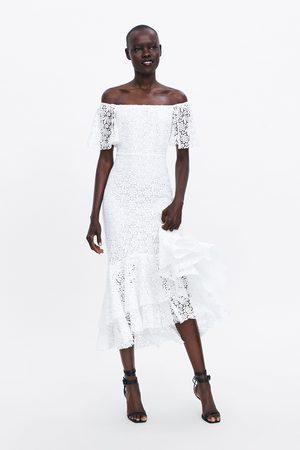Zara Vestido largo encaje