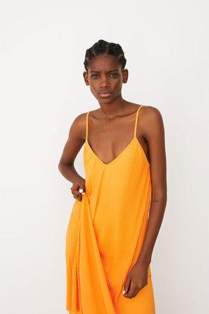 2019 mejor venta en venta disfruta de un gran descuento Plisado Vestidos de mujer color amarillo ¡Compara 60 ...