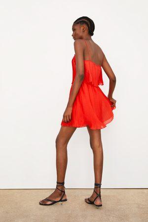 Zara Vestido tirantes plisado