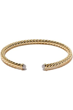 David Yurman Brazalete Cable Spira con diamantes en oro 18kt