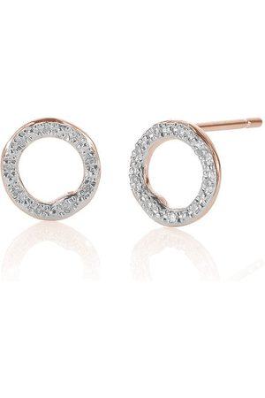 Monica Vinader Pendientes circulares RP Riva con diamantes