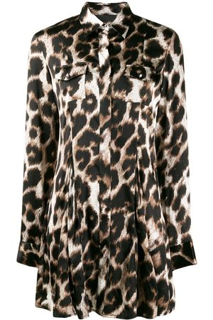 Philipp Plein Blusa con estampado de leopardo