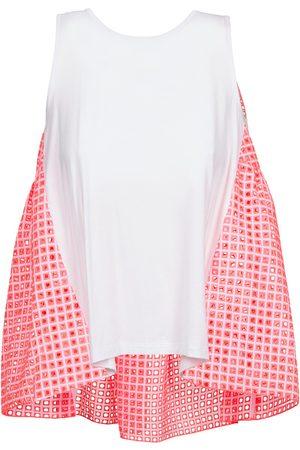 Manoush Camiseta tirantes AJOURE CARRE para mujer