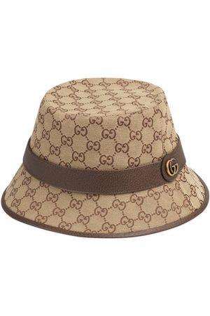 Gucci Sombrero fedora con lona y motivo GG