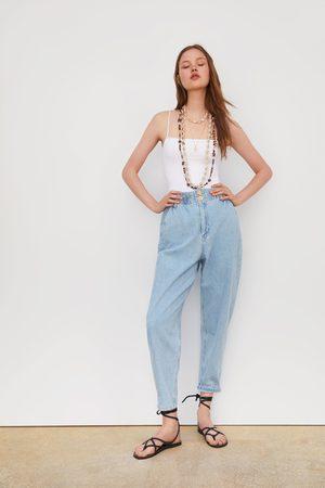f371f52efd 2.000 productos. Mujer  Pantalones y Vaqueros  Zara. Zara Pantalón paper bag