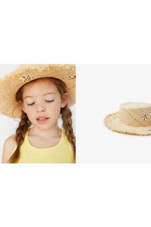 Zara Niña Sombreros - Sombrero paja flores