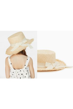 Zara Niña Sombreros - Sombrero paja cinta