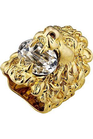 Gucci Anillo con cabeza de león y cristales
