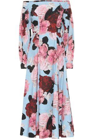 Erdem Estampados - Exclusivo en Mytheresa - Vestido Pollina de popelín floral