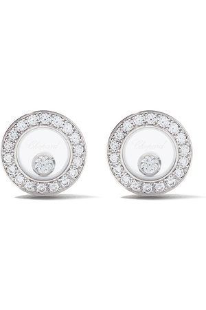 Chopard Pendientes Happy Diamonds Icons en oro blanco 18kt
