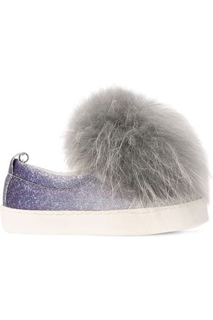 MONNALISA | Niña Sneakers Slip-on De Piel Sintética Glitter 34
