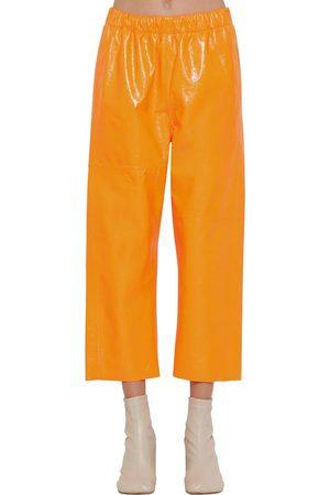 MM6 MAISON MARGIELA Pantalones De Piel Plastificada