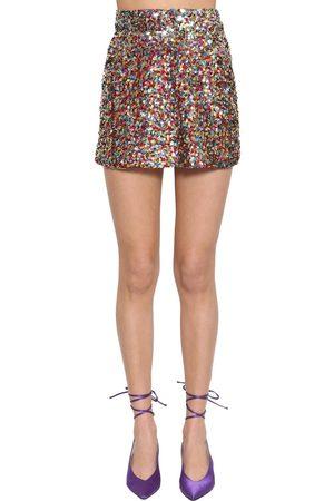 The Attico | Mujer Mini Falda De Lentejuelas Con Cintura Alta 36