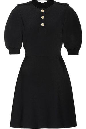 Stella McCartney Vestido corto de punto acanalado