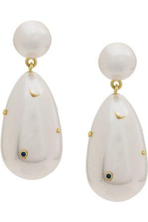 ESHVI Pendientes con perla colgante
