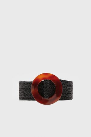 Zara Cinturón hebilla efecto carey