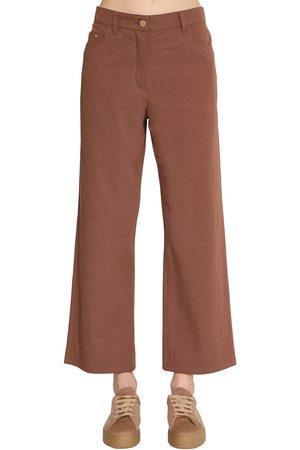 Max Mara Pantalones De Lona De Algodón